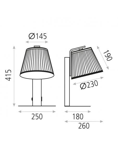 Alema 16/3781-42 Aplique Blanco texturado, LED 1x9W 3000K 720lm, CL.I, LED integrado, Con interruptor, Con USB - Imagen 1