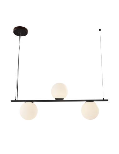 Kin 8169/3 Colgante Negro Texturado/Opal, LED 3x5W 3000K 1110lm, CL.I, LED integrado - Imagen 2