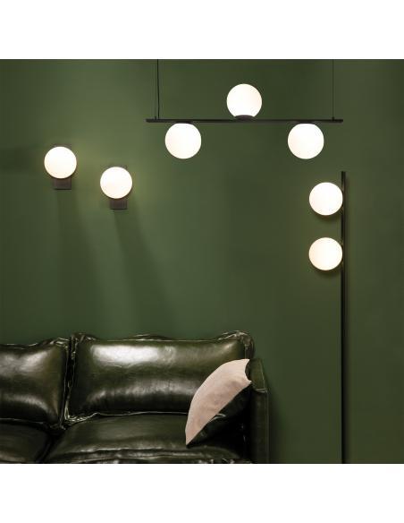 Kin 8169/3 Colgante Negro Texturado/Opal, LED 3x5W 3000K 1110lm, CL.I, LED integrado - Imagen 4