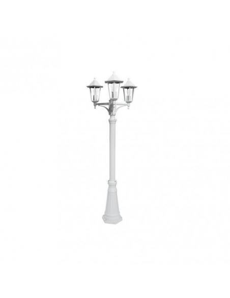 Farola Exterior Aluminio Auriga 3xe27 Blanco Ip44 220x62x62 Cm - Imagen 2